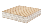 Moso Bamboo Tambour Faced Panel